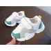 Кроссовки детские для мальчиков Fashion белые с зелеными вставками