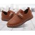 Туфли детские PU-кожа Sport коричневые для мальчика