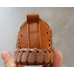 Туфли детские дышащие PU-кожа коричневые на мальчиков
