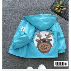 Ветровка для девочки голубая Amaegng 1171