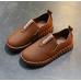 Туфли детские PU-кожа коричневые на мальчика