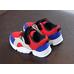 Кроссовки детские для мальчика Fashion красные с синими вставками