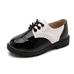 Лакированые туфли детские черные с белым на мальчика